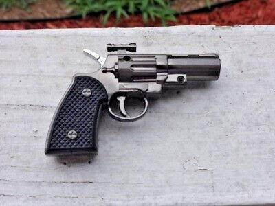 Revolver Pistol Gun Shape Jet Torch Lighter Small Pocket Size USA Stock And Ship