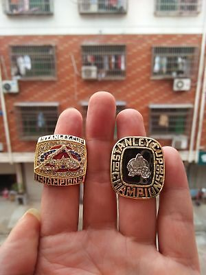 2pcs ring 1996 2001 Colorado Avalanche Stanley Cup Championship Ring Great Gift