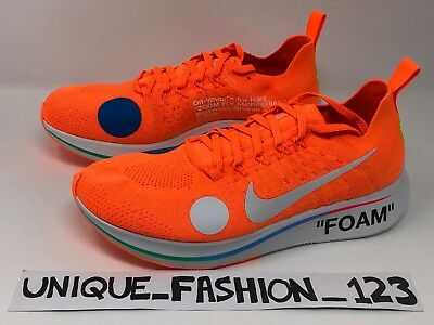 cheaper f119e dab79 Nike Zoom Fly Mercurial X Off White Uk 5 6 7 8 9 10 11 Orange