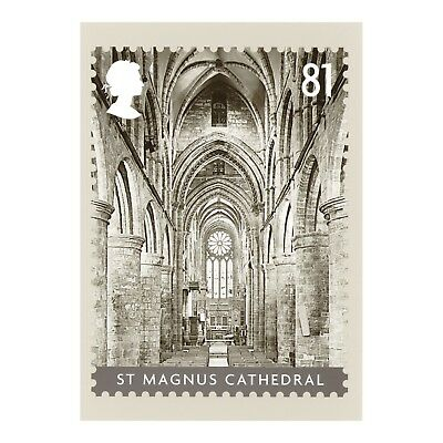 Inside St Magnus Cathedral, Kirkwall Orkney Scotland Royal Mail Phq 311 Postcard