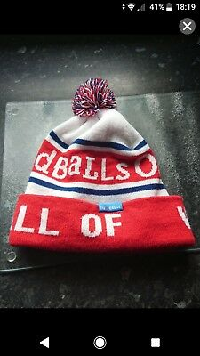 Oddballs Obble Bobble Hat England Rugby League Red White Blue