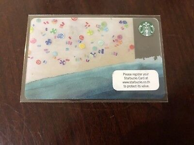 2014 2015 Starbucks Coffee Thailand Summer Beach City Rare HTF VHTF Gift Card