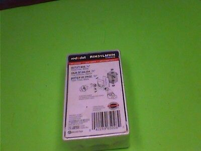 "(NEW) Red Dot RIH31LM WH 1/2"" Outlet Box Three Hole White S100WHE"