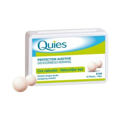 Quies Cire Naturelle Protection Auditive - 12 paires