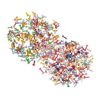 400 Pcs Multi Color Metal Round Brads Paper Fasteners for Scrapbooking Craft