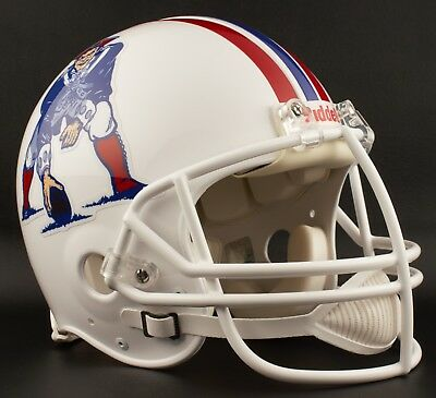 45eabeef01e NEW ENGLAND PATRIOTS 1982-1989 NFL Riddell AUTHENTIC Throwback Football  Helmet