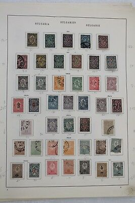 Bulgaria 1879 to 1937 Good Collection with Strong Early Issues (12 Pages) M&U