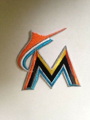 Miami Marlins Park MLB Jersey Logo Patch Iron On Sew on Shirts Jackets Bag Hat