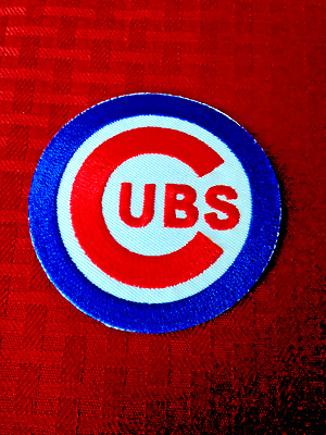 """Chicago Cubs C Logo Jersey Patch 5 3/8"""" Wrigley Field Iron On Sew Hoodie Jacket"""