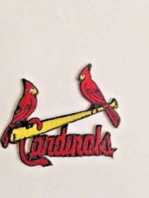 St. Louis Cardinals Jersey Patch Iron On Sew Shirt Hoodie Jacket Red Birds Bat