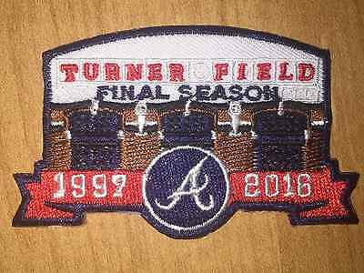 "Atlanta Braves Turner Field FINAL SEASON/Classic A Jersey Patches 3"" Iron On"