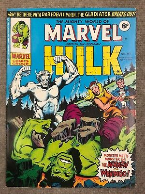 The Mighty World Of Marvel 197 Hulk, First Wolverine In Uk