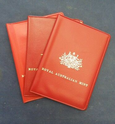 1972, 1975, 1976 Royal Australian Mint Uncirculated Coin Sets