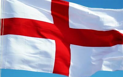 2 x England Flag St George Day Cross Flags English Football Rugby 5X3FT Eyelets