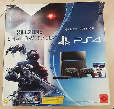 Playstaion Orginal KARTON / PS4 Karton OVP, Gamer Edition (Killzone Shadow Fall)
