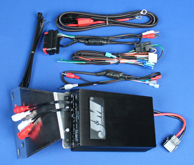 J&M Audio 400 Watt 4 Channel Audio Amp Kit for 2006-2013 Harley Road Glide