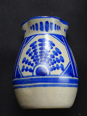 A small early Gouda Vase from the Het Hert (The Deer) Factory: Rare