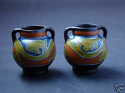A Pair of Gouda Vases - perfect