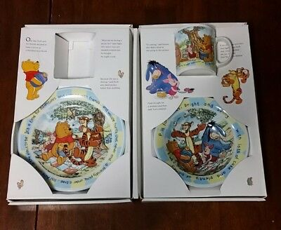 Staffordshire Winnie the Pooh 3 Piece Breakfast Set  Great Condition NIB