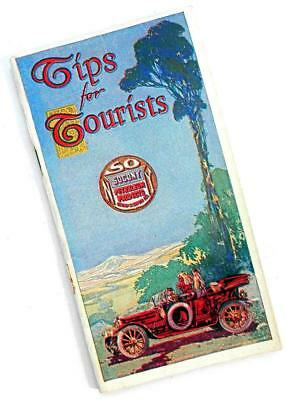 """c. 1912 STANDARD OIL SOCONY """"Tips for Tourists"""" automobile brochure booklet"""