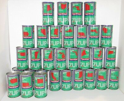 30 7up Soda Cans United States 1976 United We Stand Empty Vintage