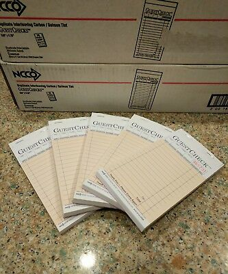 2-Part Guest Check Carbon Restaurant Receipt Sales Order S 6000-6 Pack FREE SHIP
