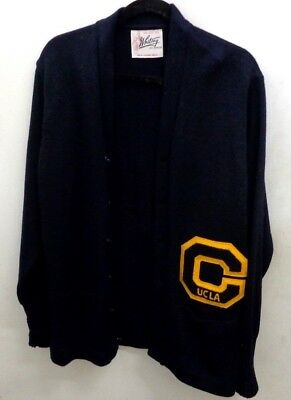 Authentic Vintage UCLA LETTERMAN SWEATER/JACKET Whiting Los Angeles 100% WOOL