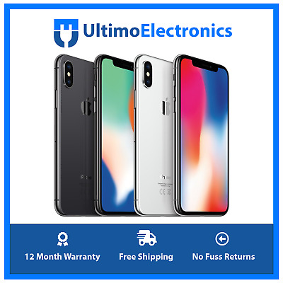 Apple iPhone X -64GB/256GB - Space Grey or Silver (Unlocked) Excellent Condition