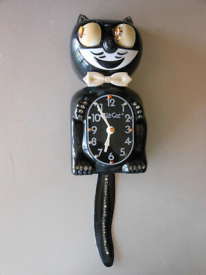 Vintage Kit Kat Clock Black Jeweled