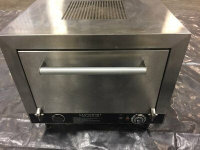 "Commercial Pizza Oven Nemco 6205-240 Counter Top Double 19"" Stone Deck 240v"