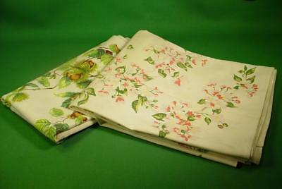 2 Vintage Tagged Wilendur Tablecloths 50X54 Rare Chestnuts & Pink Rose Cutters?