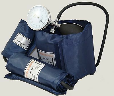 ICE Medical Blood Pressure Kit - Sphygmomanometer 3 cuffs Baby Child Adult inc
