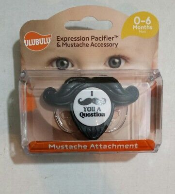 "Ulubulu Baby Pacifier ""I Mustache You A Question""- (0 To 6 Months)"