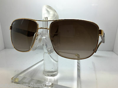 9ed7a7500f4 AUTHENTIC RAYBAN Rb 3533 001 13 Gold brown Gradient Lens 57Mm ...