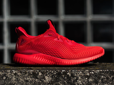 3d40b1f91ecd New adidas ALPHABOUNCE EM SHOES Blaze Orange Core Red BW1202 Running Shoes