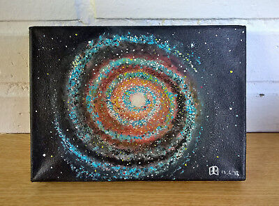 """Original,signed,acrylic Hand Painted On Canvas,""""galaxy*"""