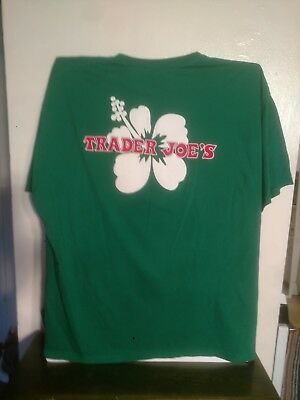 Trader joes t shirt green, sweet for St. Paddy's! 2X .