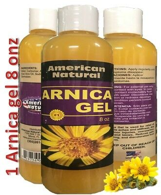 ARNICA MONTANA GEL 8 Oz PAIN RELIEF BRUISES MUSCLE ACHES CREAM NATURAL REMEDIES