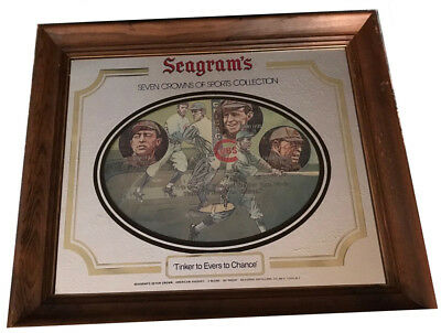 Collectible Advertising  Seagram's 7 Mirror Tinker/Evers/Chance