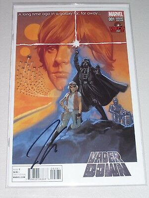 Vader Down #1! (2016) Vienna Comic Con Variant! Signed-Jason Aaron! NM! COA!