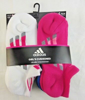 38d1d1123cb6 NEW ADIDAS KIDS Superlite No-Show Socks 6-Pack Girls Size 13C-4Y ...