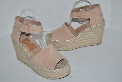 b4409a510acf MARC FISHER LTD Adalyn Espadrille Wedge Sandal Blush Suede Size 8 M ...