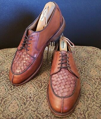 ALLEN EDMONDS HERSEY Mens Split Toe Derby Oxfords Shoes Size 8D Woven Leather