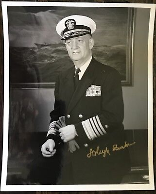 ARLEIGH BURKE Signed 8x10 PHOTO..U.S. ARMY MEDAL OF HONOR RECIPIENT