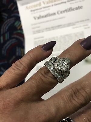 gold diamond ring wedding engagement - valuation over $10000