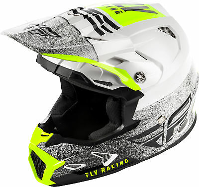 Fly Racing Youth Toxin MIPS Embargo Motocross Helmet White/Black YL
