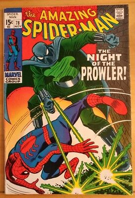 The AMAZING SPIDER-MAN #78 1st Appearance Prowler (1969 MARVEL Comics) ~ VG/FN