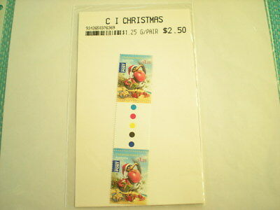 Christmas Island Christmas Gutter Pair $1.25 Stamps