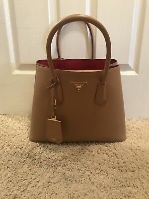 8a124831d15 ... sale authentic prada double bag large 2f900 f9f1f