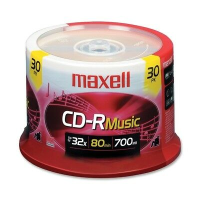 Maxell 625335 30Pc Cd-R Music 80Min Spindle